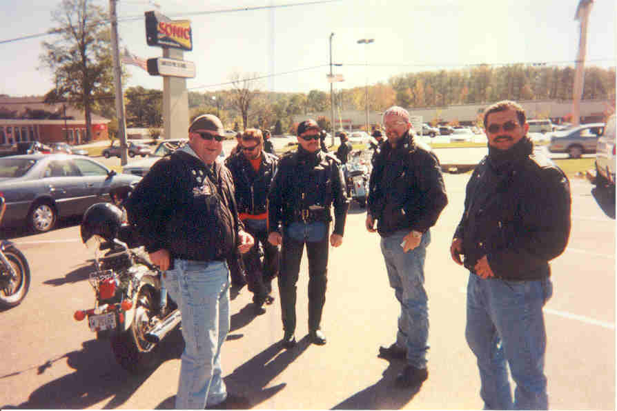 Guys from Alabama III at our March of Dimes Ride.